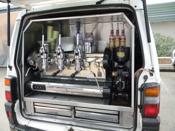 Coffee van stainless