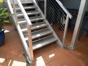 Aluminium staircases