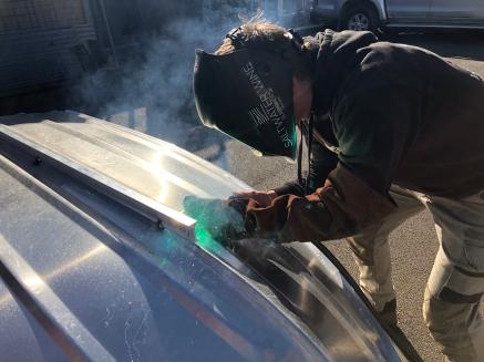 Aluminium tinny repairs