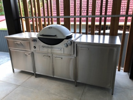 Stainless BBQ bench